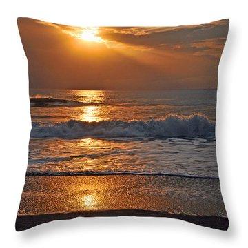 Lights On Ventura Throw Pillow by Lynn Bauer