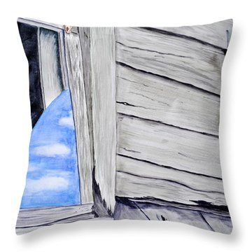 Lil House Throw Pillow by Art Hill Studios