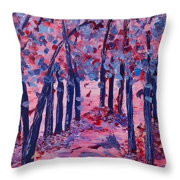 Lilac Avenue Throw Pillow
