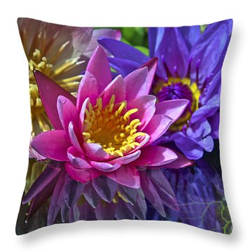 Lilies No. 10 Throw Pillow by Anne Klar