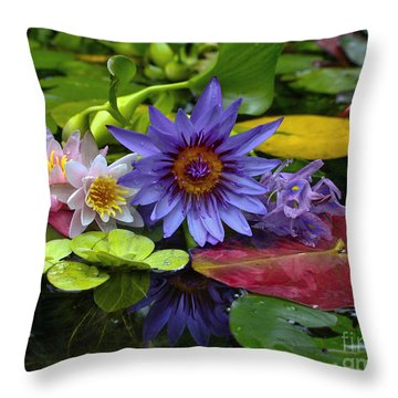 Lilies No. 13 Throw Pillow by Anne Klar