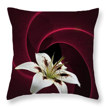 Throw Pillow featuring the photograph Lilly White by Judy  Johnson