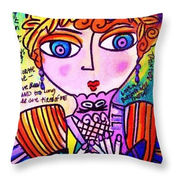 Lily Bart Throw Pillow