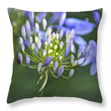 Lily Of The Nile Throw Pillow by Gwyn Newcombe
