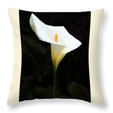 Lily On Black Throw Pillow
