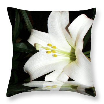Lily Reflection Throw Pillow by Pamela Hyde Wilson