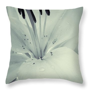 Lily Throw Pillow by Sarah Couzens