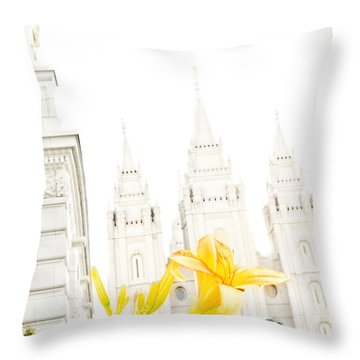 Lily Temple Funky Throw Pillow by La Rae  Roberts