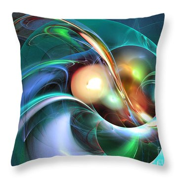Limbo Of Oblivion Abstract Art Throw Pillow