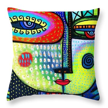 Lime Tree Goddess Throw Pillow