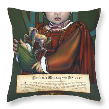 Lincolm Willem Van Naught Throw Pillow by Patrick Anthony Pierson