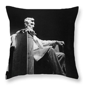 Lincoln Memorial Throw Pillow by Granger