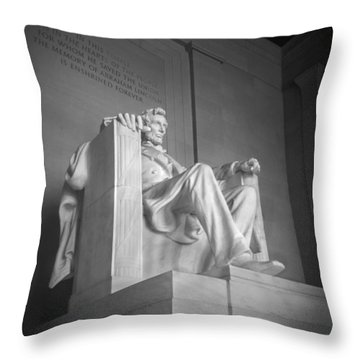 Lincoln Memorial  Throw Pillow by Mike McGlothlen