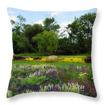 Throw Pillow featuring the photograph Lincoln Park Gardens by Lynn Bauer