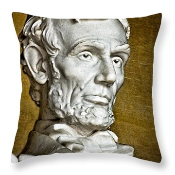 Lincoln Profle 2 Throw Pillow by Christopher Holmes