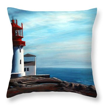 Lindesnes Lighthouse Throw Pillow