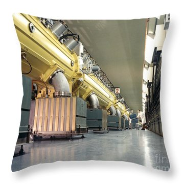 Linear Accelerator Linac Throw Pillow by Science Source