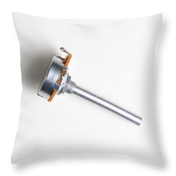 Linear-taper Potentiometer Throw Pillow by Photo Researchers, Inc.