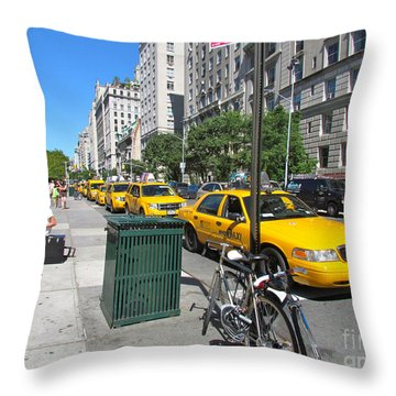 Lined Up For Business Throw Pillow by Randi Shenkman