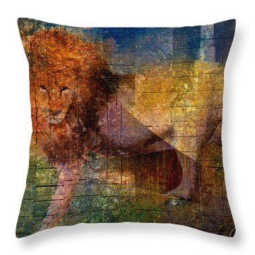 Lion Throw Pillow by Arline Wagner