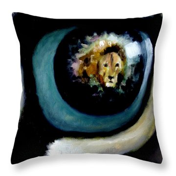 Lion In The Eye Throw Pillow
