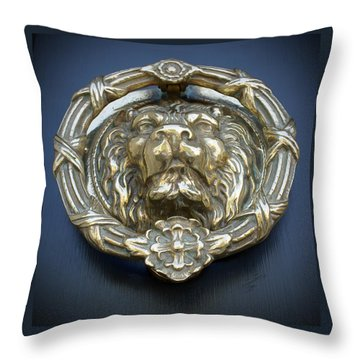 Lions Gate Throw Pillow by Jean Haynes