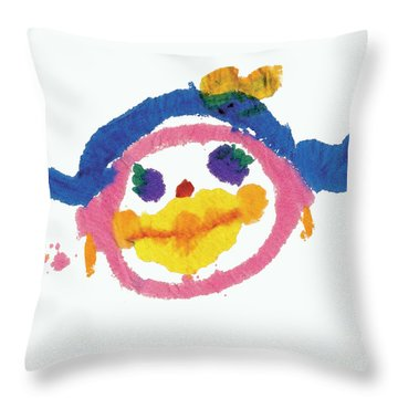 Lipstick Face Throw Pillow