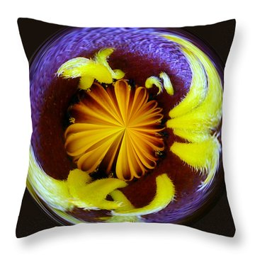 Liquid Center Throw Pillow
