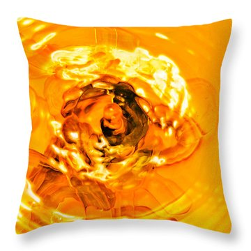 Liquid Gold Throw Pillow by Andee Design