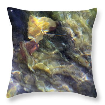 Liquid Leaves 2 Throw Pillow