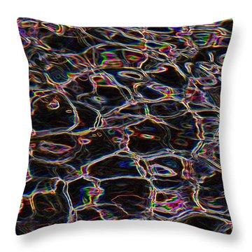 Liquid Luminescence Throw Pillow by Al Powell Photography USA