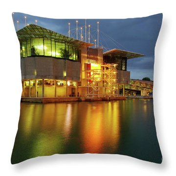 Lisbon Oceanarium Throw Pillow by Carlos Caetano