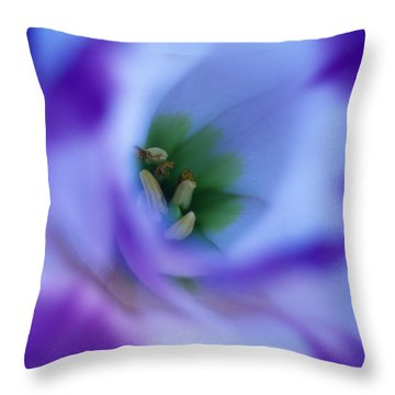 Lisianthus Throw Pillow by Kathy Yates
