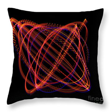 Lissajous Figure Throw Pillow by Ted Kinsman