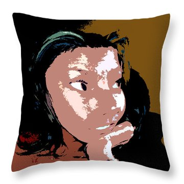 Listening Throw Pillow by David Lee Thompson