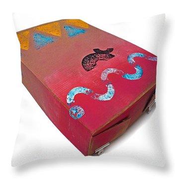 Little Big Horn Box Throw Pillow by Charles Stuart