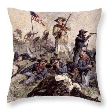 Little Bighorn, 1876 Throw Pillow by Granger