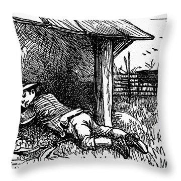 Little Boy Blue Throw Pillow by Granger