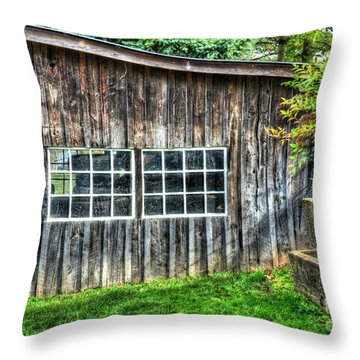 Little Brown Shed Throw Pillow by Debbi Granruth