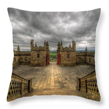 Little Castle Entrance - Bolsover Castle Throw Pillow