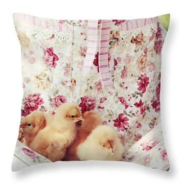Little Chicks Throw Pillow