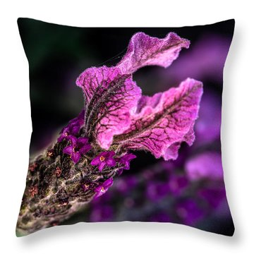 Little Flower 01 Throw Pillow by Edgar Laureano