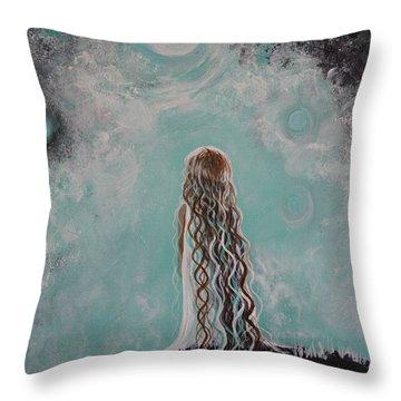 Little Galaxie Throw Pillow by Leslie Allen