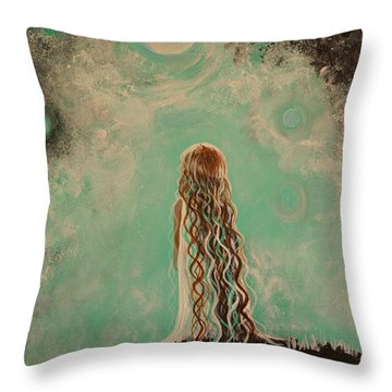 Little Galaxie One Throw Pillow by Leslie Allen