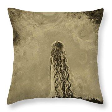 Little Galaxie Too Throw Pillow by Leslie Allen