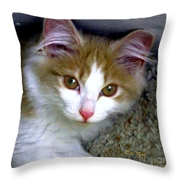 Little Girl Throw Pillow