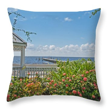Little Harbor Tampa Bay Throw Pillow by John Black