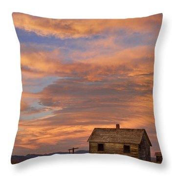 Little House On The Colorado Prairie Throw Pillow by James BO  Insogna
