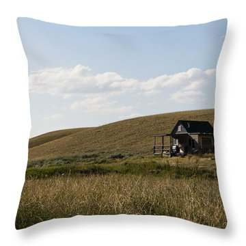 Little House On The Plains Throw Pillow