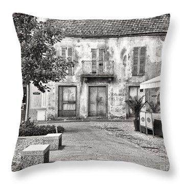 Little Italian Corner Throw Pillow by Silvia Ganora
